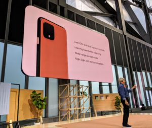 Google Engineer, Marc Levoy, talked about the phone's camera app, which now offers dual-exposure controls for brightness and shadows, and machine-based white balancing to provide more accurate colors in challenging shooting scenarios.