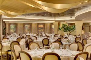 Here is one of the more formal dining areas. (Photo courtesy MSC Cruises USA)