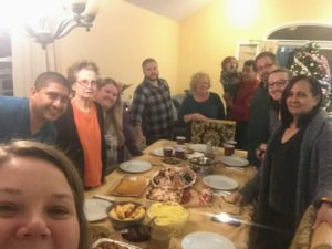 And here is the entire family just before the meal - Cathryn, Hector, Grandma Willisch, Ashley, Kenneth, Colleen, Tito, Ethan, Ken, Pat, and Mery.