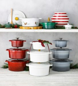 My Enameled Cast Iron pots are great to use all year long, year after year. These pieces heat slowly and evenly and are compatible with gas, electric, glass and induction cooktops.