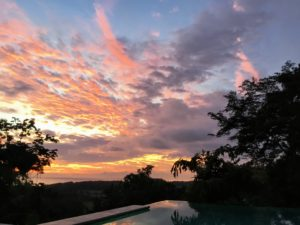 Here is a beautiful sunset seen from the infinity-edge pool. The sunsets were so stunning.