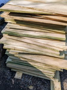 These are Alaskan yellow cedar shingles. Alaska yellow cedar is actually more closely related to the cypress family than the cedar family. It is known for its natural beauty and durability.