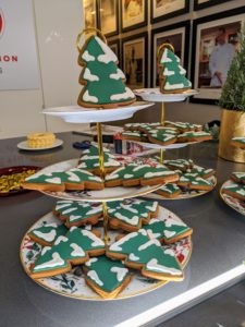 These decorated Christmas tree cookies are on my Royal Blush 3-Tier Server from Macy's. Use multiple servers to make a beautiful presentation of all your baked treats.