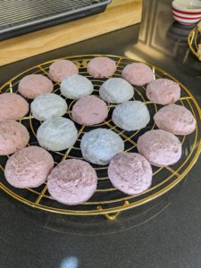 "I also showed our influencers how to make these fun Pastel Butter Cookies from ""Cookie Perfection"" - so easy and a great cookie recipe to do with the kids."