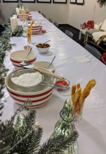 Each guest was set up with everything they needed to decorate cookies - the bowls and tools are also from my Collection exclusively at Macy's.