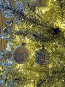 The trees were decked in silver with silver ornaments – I love how everything glistens.