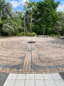 The Labyrinth in the South Grove of the Naples Botanical Garden was created for quiet meditation.