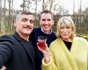 Here I am with Douglas Friedman and Kevin Sharkey on this day of merriment and good cheer. See more fun selfies of the three of us by @DouglasFriedman on my Instagram page @MarthaStewart48. And you can always find fun photos on Kevin's Instagram page @seenbysharkey.