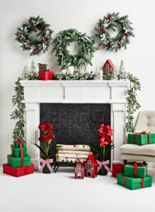 My holiday decor at Macy's is also very festive. Use wreaths and garlands to decorate your mantel, living room, dining room or wherever guests gather. My faux greenery and coordinated trimmings can be used year after year.