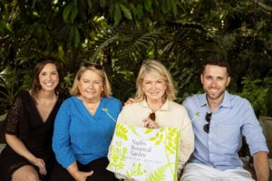 And here I am with my sister-in-law, Rita Christiansen, her son Kirk, and his girlfriend, Jen Norman. Although brief, we had a lovely time walking through the Naples Botanical Garden - I encourage you to visit if you're ever in this area. (Photo by Mary Dominguez)