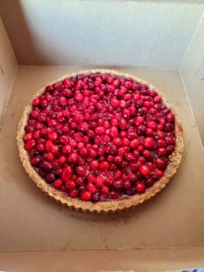 Every Thanksgiving, I make pies for everyone who works for me at my farm. My stable manager, Sarah Levins, enjoyed this one - a cranberry tart in a nut crust. https://www.themarthablog.com/2019/11/making-thanksgiving-pies-at-my-farm.html