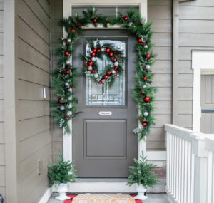 There's still time to give the front of your home some holiday curb appeal. At Amazon, order my pre-lit holiday garland adorned with ornaments and berries and my matching wreath - both have bright clear energy-efficient LED lights sprinkled throughout for a soft, ambient glow.