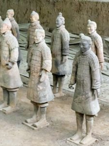 Emperor Qin Shi Huang began the construction of the army in 246 BC after he ascended the throne. Construction ended in 206 BC - four years after Qin's death when the Han Dynasty began. All the figures had amazing details, showing exactly how they would have appeared during the emperor's reign.
