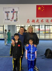 Here is another photo of me with Master Ma Chao and his children.