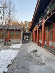 Here is a view of the courtyard. Suites faced each other into private courtyards for guests to enjoy.