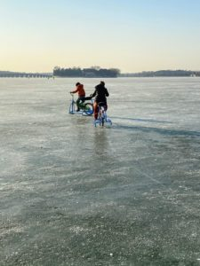 They had so much fun ice-biking around the lake. It was definitely one of the highlights of the trip. We spent about three hours here.
