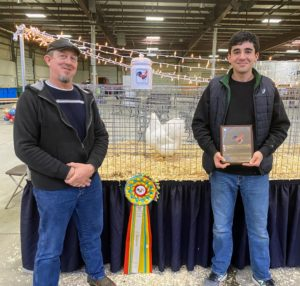 My friend, Ari Katz, on the right, and his Wyandotte breeding partner, Tom Roebuck, won Reserve Champion of the entire show - second out of three-thousand!
