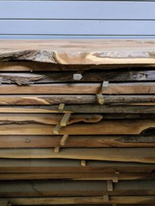 For these heavier pieces of lumber, we place wood brackets every 16 to 18 inches to prevent warping and moisture.