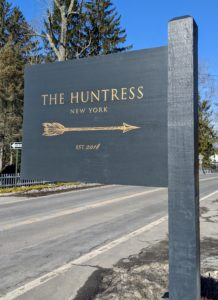 The Huntress is located on Westchester Avenue in Pound Ridge, just across the street from the Inn at Pound Ridge, the casually elegant and delicious restaurant owned by acclaimed chef Jean-George Vongerichten.