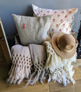 There are also lots of comfortable pillows and soft blankets - all beautifully crafted.