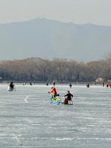 The children loved skating and sledding on the lake ice - it is a popular spot for winter activities.