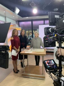 Here I am with Hota Kotb and Savannah Guthrie just before our segment began. Did you catch it?