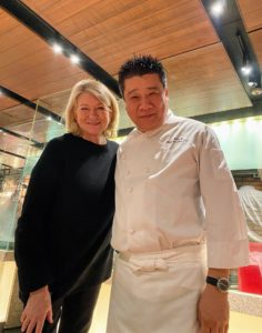 Our first meal in China was at the Made in China Restaurant at the luxurious Grand Hyatt Beijing. Her I am with executive chef, Kent Jin.