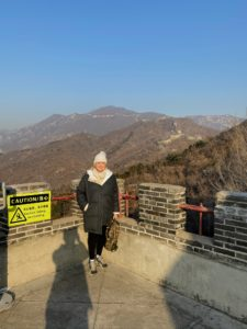 Here I am at one of the lookout points. It was extremely cold - sub-zero weather, but the views were so amazing.