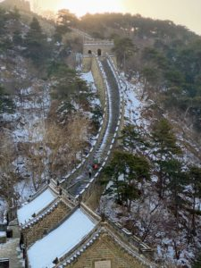This section is mostly stairs, with little flat areas. I took this photo of my family walking up some of the many steps. We were very fortunate to get to The Great Wall early as there were very few tourists.
