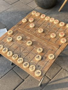 Back in Beijing, we passed by a game of Xiangqi, also called Chinese chess. It is a strategy board game for two players - one of the most popular board games in China.