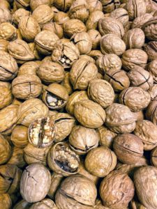 There were tons and tons of walnuts - it is walnut season in China.