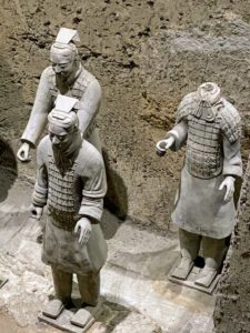 The Army is currently located in three main areas - Pit 1, Pit 2 and Pit 3. The terracotta warriors are arranged in practical battle formations.