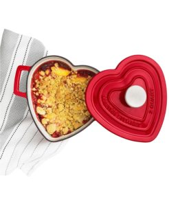 Also from my collection at Macy's - this Enameled Cast Iron 2-Qt. Heart-Shaped Casserole. The dish is made of enameled cast iron and is compatible with all cooktops, including induction. It's perfect for making a special Valentine's one-pot meal or soup.