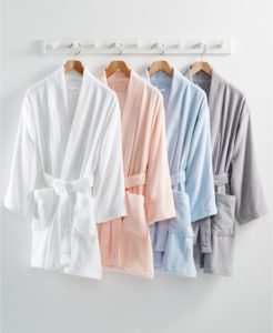 Why not give your love a cotton Terry Bath Robe? These bathrobes are made with the softest cotton terry and made very roomy - about 36-inches from the shoulder.
