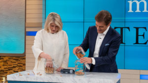Here we are storing nuts in airtight containers. I also provide a helpful pantry storage guide in my book with shelf-life duration times and storage how-to solutions. (Photo courtesy of The Dr. Oz Show)
