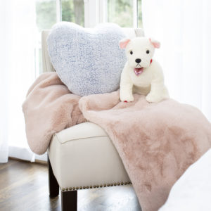 These cozy gifts are great for anyone who loves to cozy up during those cold winter days - my Faux Fur Throw, my Valentine's Day Bulldog Plush, and my Sherpa Heart Decorative Pillow - all part of my collection made exclusively for Macy's.