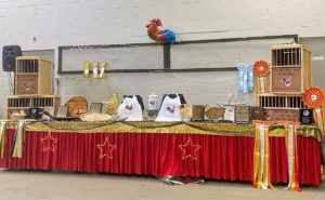 Here is the large awards table at one end of the Mallory Complex in the Eastern States Exposition Center.