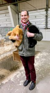 My friend, Christopher Spitzmiller, also attended the event. Christopher loves Golden Buff Orpingtons – in fact, he shows and breeds them himself. This year, Christopher brought home one Buff Orpington hen and one Ameraucana rooster.