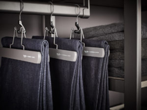 I love the look of matching hangers in the closet - all my hangers in my closet are also exactly the same.