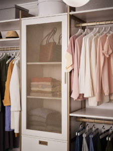 This sophisticated system doubles the storage without compromising style. There's more than 11-feet of hanging space for all those dresses, blouses and work outfits.