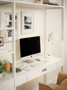 This home office has smart storage for all your technology needs including power sockets and USB ports so devices can be charged and on-hand.