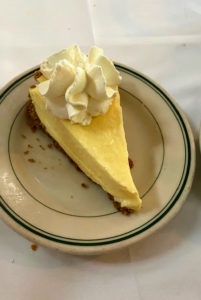 For dessert, we had the very fine key lime pie.