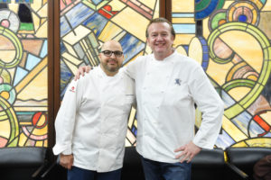 Here's another photo of my co-hosts for the evening event, Chef Antonio and Chef Michael. (Photo by WorldRedEye.com)