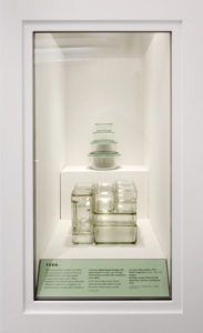 This case showed different forms. The food storage containers at the top were offered exclusively in my Martha Stewart Everyday line at Kmart. Manufactured by Anchor Hocking, the oven-to-refrigerator containers were available to the public for nearly a decade. The all-glass, rectangular vintage refrigerator containers are from Kubus, 1938 - also stackable and still quite usable. (Photo by WorldRedEye.com)