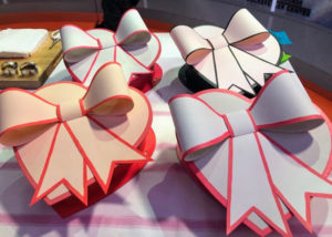 "Finally, I showed my Valentine's Day gifts for my daughter, her children, and my dear friend. In the issue of ""Living,"" we provide the entire how-to instructions for making these wonderful paper boxes with bows. They're so easy to make and so pretty. Plus, you can make these bows for any gift box during the year."