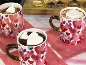 I also shared my idea for a special Valentine's Hot Cocoa - embellish it with homemade heart-shaped marshmallows in the cups.
