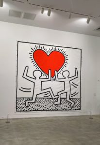 Another of Keith Haring's iconic works.