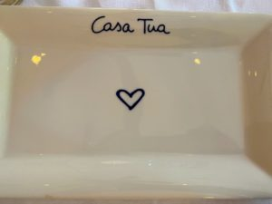 This is the signature plate of Casa Tua - simple, yet char