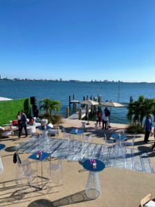 In the afternoon, we attended the Bank of America Tailgate Party. The party was located at a private waterfront villa on Star Island, a man-made island in Biscayne Bay.