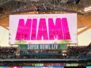 This game was the 11th Super Bowl hosted by the South Florida region and the sixth Super Bowl hosted in Miami Gardens.